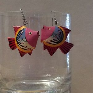 Jewelry - Tropical fish earrings vintage